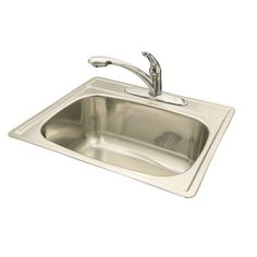 "Fhp SSK104NB 10"" Radiant Silk Single Bowl Topmount Sink"