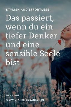 This happens when you are a deep thinker and a sensitive soul - Gefühle - Emotion Sensitive People, Highly Sensitive, Tips To Be Happy, Positive And Negative, Yoga Quotes, True Words, Self Development, Good To Know, Psychology