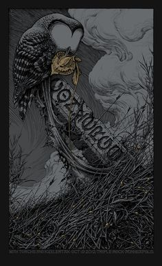 To Harrow a Naif, Converge Tour Poster version. Aaron Horkey