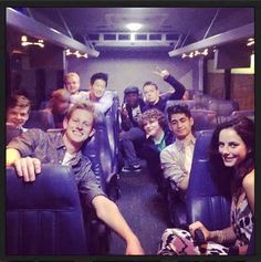 The Maze Runner cast<3 I hated how they totally forgot the float catch thing, the gladers we way too nice, chuck didn't say push the button, gally died, they used 3 glader words the whole movie, and more holy cow I could just go on and on:p but amazing cast!!!
