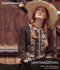 Ein ganz besonderer Hingucker ist diese hübsche traditionelle Damenjacke aus Schachenmayr #Trachtenwolle.