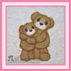 Hugging Mamma and Child Tear Bear Set.