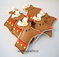 Just bought a reindeer head cookie cutter here today. I think I can make mine cuter though. This is a good starting point though...