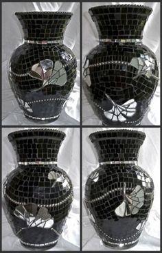 Ginko Leaf Mosaic Vase