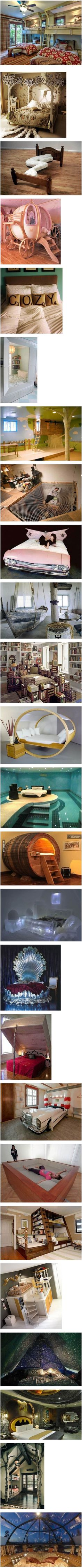 Some interesting beds and bedrooms