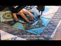 How To: Machine Quilt a Square in a Square Quilt Block - YouTube