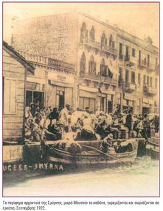 Greek refugees clamouring to escape Smyrna, September 192 Greek History, European History, Greece Photography, Vintage Photography, Old Greek, In Ancient Times, Ottoman Empire, Historical Photos, Art And Architecture