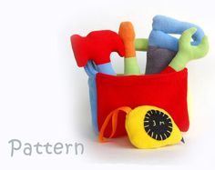 First toolbox Soft Toy Pattern PDF Pattern INSTANT DOWNLOAD