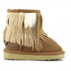 Mou Antelope Fringe Kid Boots Chestnut  #outfitideas #winterkid