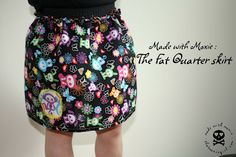 Made with Moxie: Fat Quarter Skirt Tutorial