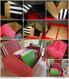 Make This Shoe Box Guide Organizer For Your Function Desk - http://www.homeandbeautiful.com/decorating/make-this-shoe-box-guide-organizer-for-your-function-desk.html