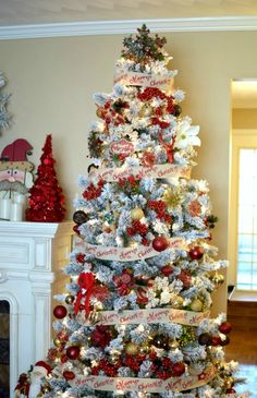 my winter woodland christmas tree is a new theme this year red gold and brown colors paired with rustic ornaments make this tree one of my favorites
