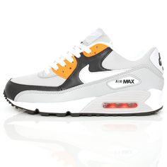 Nike Air Max 90 N. Grey White Orange 325018-097  wellgosh 31e3bd830898
