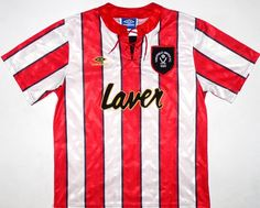 0a4a7f7e1 1992-94 Sheffield United Home Shirt XL Vintage Football Shirts
