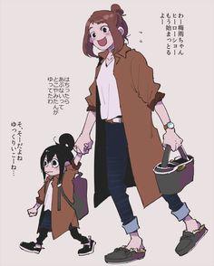 Boku no Hero Academia || Tsuyu Asui, Uraraka Ochako.