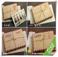 unidsset setlote kraft marrn mini papel vintage