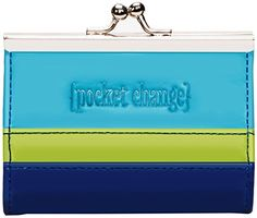 C.R. Gibson IOTA Chic Coin Purse, Turquoise, One Size ** Click image to review more details.