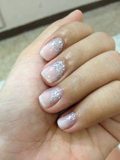 Wedding Nails. Maybe with colored glitter to represent our houses