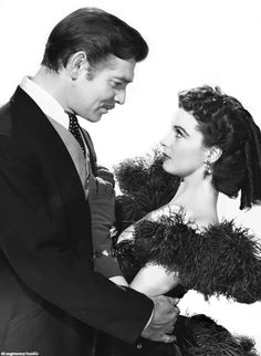 Clark Gable and Vivien Leigh in Gone With the Wind. Promo photo