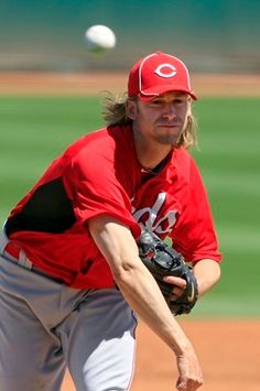 Bronson Arroyo-Former Cincinnati Reds pitcher, corn rows, and has played with Pearl Jam!missing Bronson! Cincinnati Reds Game, Cincinnati Reds Baseball, Basketball Uniforms, Buy Basketball, Basketball Shooting, Basketball Legends, Bronson Arroyo, Baseball Pictures