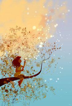 Plein de poesie pour ce joli tableau / Pascal Campion / #ToileduMardi #Art /
