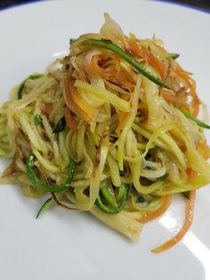 Cocina Basica y Fresca: ESPAGUETIS DE VERDURAS CON SALSA AL PARMESANO CBF@