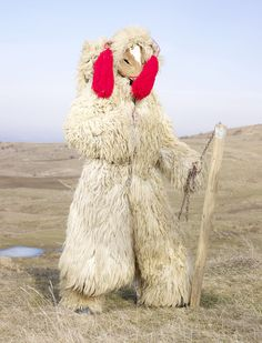 charles_freger_wilder_mann_2010-2011_0145_ursu_din_udesti Charles Freger, Tribal Costume, Festival Costumes, Art Plastique, Costume Design, Folklore, Traditional Outfits, Textile Art, Pagan