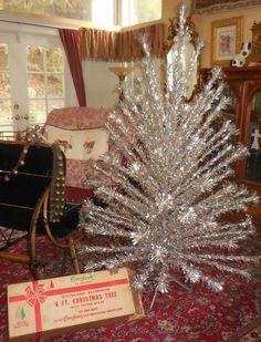 Mid Century 6 Foot Peco Aluminum Sparkling Christmas by KrauseHaus