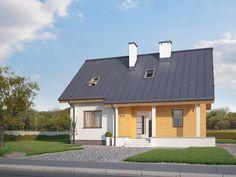 Projekt Aloes (135,11 m2). Pełna prezentacja projektu znajduje się na stronie: https://www.domywstylu.pl/projekt-domu-aloes.php #aloes #domy #projektydomow #dom #projekty #architektura #architecture #domywstylu #mtmstyl #realizacja
