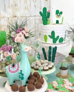 Baby Shower Ideas Decoracion Cactus Ideas - Llama party - Baby Shower Ideas Decoracion Cactus Ideas The Effective Pictures We Offer You About cactus draw - Llama Birthday, Baby Birthday, Girl Birthday Themes, 2nd Birthday Parties, Mexican Birthday, Fiestas Party, Party Decoration, 1st Birthdays, Baby Shower Themes