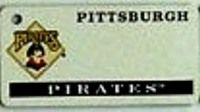 """This is an MLB Pittsburgh Pirates Team License Plate Key Chain or Tag. An excellent and affordable gift for an avid MLB fan! The key chain is available with engraving or without engraving. It is a standard key chain made of durable plastic and size is approximately 1.13"""" x 2.25"""" and 1/16"""" thick."""