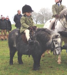 This little guy and his pony are ready to play some polo, adorable<3
