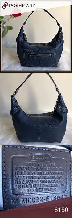 Coach Penelope Leather Hobo Bag Coach Penelope Blue pebbled Leather Hobo  Shoulder Bag. EUC inside c5e5305ec075d