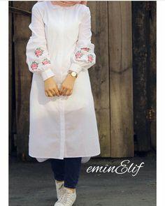 55 Ideas For Style Hijab Kemeja Putih Muslim Fashion, Modest Fashion, Trendy Fashion, Fashion Dresses, Trendy Style, Modest Wear, Modest Dresses, Modest Outfits, Hijab Dress