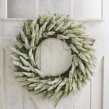 Faux White Heather Oversized 28 Wreath Heather Wreath Wreaths White Wreath
