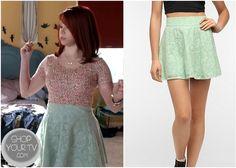 Shop Your Tv: Awkward: Season 3 Episode 3 Tamara's Green Lace Skirt #Awkward #UrbanOutfitters