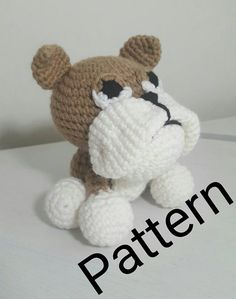 Amigurumi Bulldog pattern  Crochet Bulldog pattern Check out this item in my Etsy shop https://www.etsy.com/listing/523050312/amigurumi-bulldog-crochet-pattern-pdf