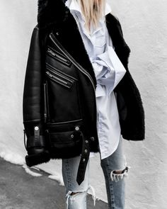 #LeatherJacket #TheArrivals #distresseddenim #AnnaQuan #Gucci #GucciBag #ootd #figtny