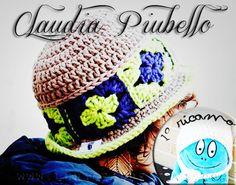 """Il Cappello di Claudia, la vincitrice del Contest """"#MyBoshi"""" per la sezione """"Ricamo"""": bravaaaa! by www.lunadeicreativi.com"""