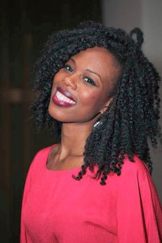 two strand twist out, i would love for my hair to be this long with a twist out!