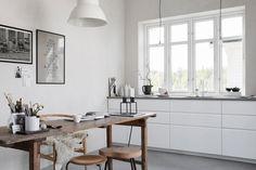 Gravity Home: The Micro Home Of Stylist Pella Hedeby Interior Desing, Home Interior, Kitchen Interior, Interior Inspiration, Interior Modern, Design Inspiration, Cocina Shabby Chic, Shabby Chic Kitchen, Interior Minimalista