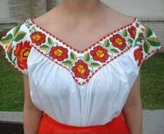 vestidos mexicanos bordados a mano - Buscar con Google