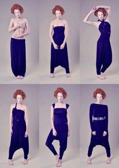 How to make and put Dresses Multipurpose <sub> Patterns </ sub> - enrHedando