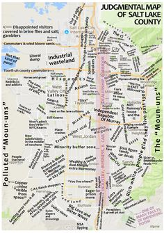Final Judgmental Map of Salt Lake County (thanks for all the suggestions!) : SaltLakeCity