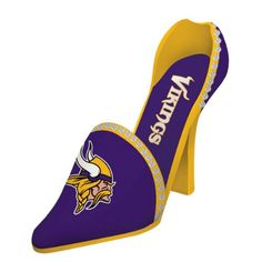 NFL Minnesota Vikings Football Women's High Heel Shoe Wine Bottle Holder 11' ** Continue to the product at the image link.