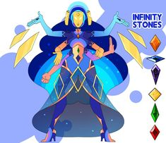 of 2 custom comms for fizzy-cryptid A fusion of the infinity court I made! I themed this fusion off the galaxy bc the galaxy is infinite idk xD and . C - Infinity Stone Fusion Steven Universe Characters, Off Colour, Black Panther, Infinity, Gems, Deviantart, River, Fan, Drawing