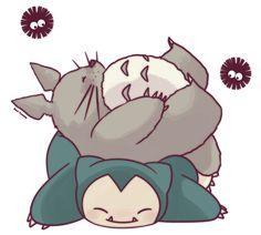 Totoro and Snorlax by SeviYummy on DeviantArt