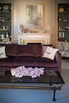 My aubergine couch