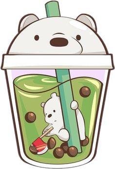 Cute Cartoon Drawings, Cute Kawaii Drawings, Bff, Cut Cat, We Bare Bears Wallpapers, Cute Hedgehog, Bear Wallpaper, Bubble Tea, Cute Cartoon Wallpapers