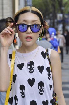 HARAJUKU STREET FASHION / Hearts and Skulls